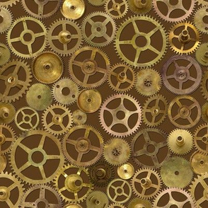 Steampunk Gears on Brown