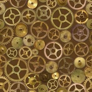 Steampunk Gears on Brown