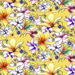 hand-drawing floral seamless design