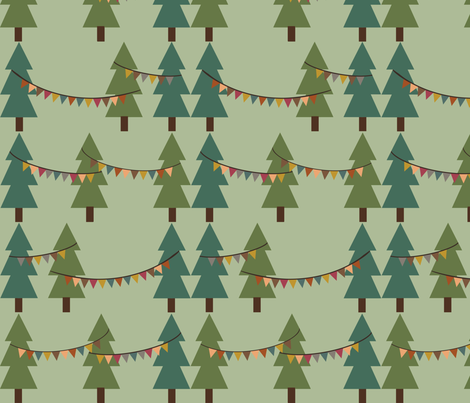 parade banners fabric by oliveandruby on Spoonflower - custom fabric