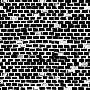 city bricks - wall black and white