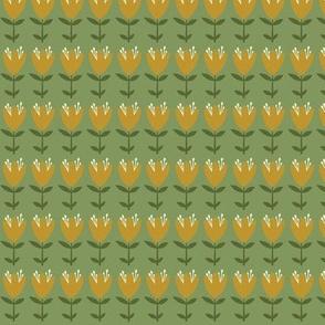 floral stripe - autumn