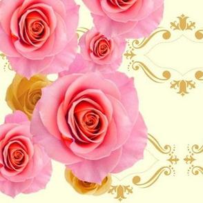 Royal Rose Harlequin.cream