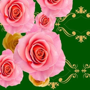 Royal Rose Harlequin.green