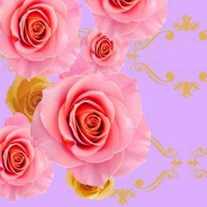 Royal Rose Harlequin.lavender