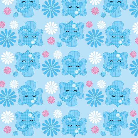 Kawaii Elephants fabric by boredinc on Spoonflower - custom fabric