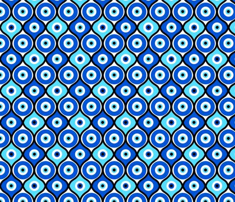Evil Eye fabric by thirdhalfstudios on Spoonflower - custom fabric