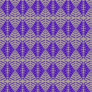 Turtle Back Diamonds Purple Gray