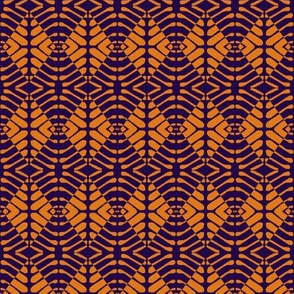 Tribal Sentries Navy Orange
