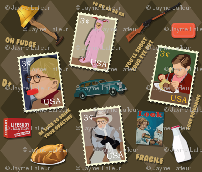 A Christmas Story Fabric