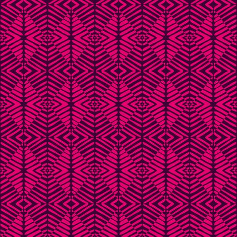 Tribal Sentries Pink Black fabric by eve_catt_art on Spoonflower - custom fabric