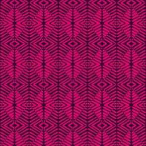 Tribal Sentries Pink Black