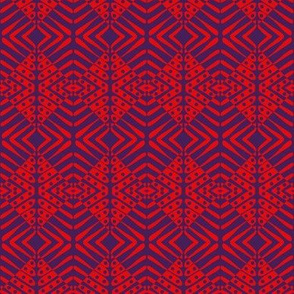 Tribal Shields Orange Blue
