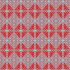 Squares Red Grey
