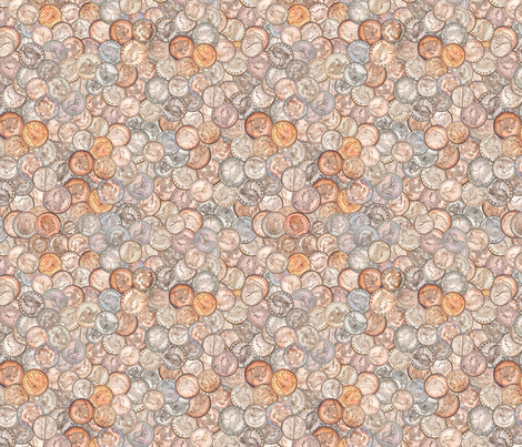 Vintage American Coins fabric by joyfulrose on Spoonflower - custom fabric