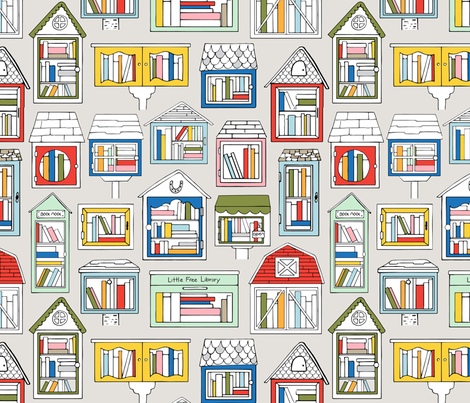Take a Book, Leave a Book fabric by nadiahassan on Spoonflower - custom fabric