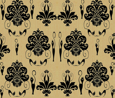 Sultry Kitty  fabric by charldia on Spoonflower - custom fabric