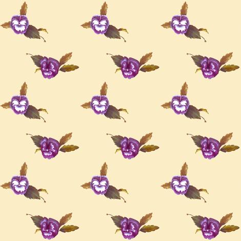 Pansy Dots_Cream fabric by thistleandfox on Spoonflower - custom fabric