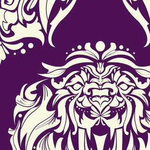 Heritage Lion Damask