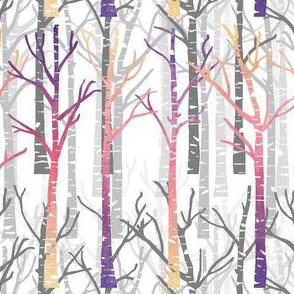 watercolor birch trees
