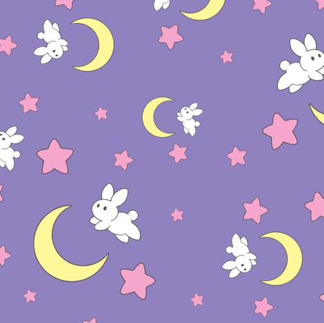 Tsukino Usagi (smaller pattern) fabric by elladorine on Spoonflower - custom fabric