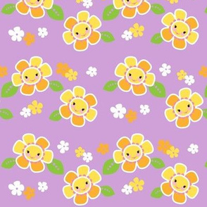 Girly Flowers Purple