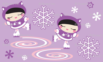 Ice Skater Purple