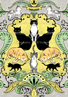 Cats I Have Loved Damask