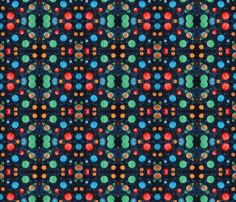 Outer space planets fabric space cadet spoonflower for Outer space material