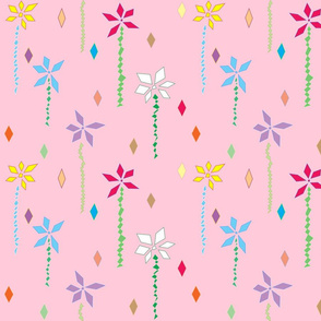 Abstract Flowers in Pink