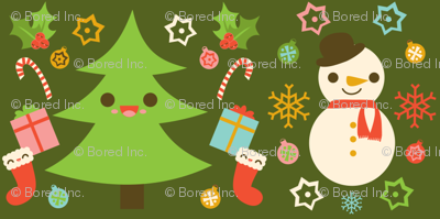 Holiday Pattern Green