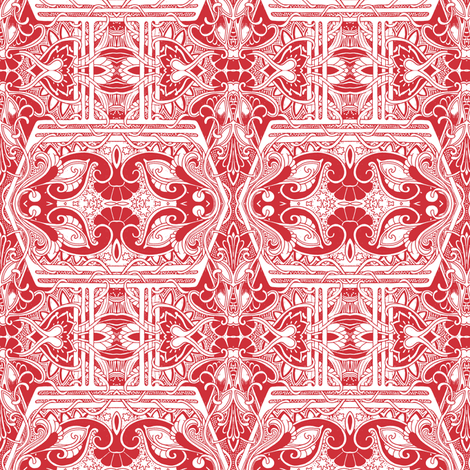 The Case of the Red Carnation fabric by edsel2084 on Spoonflower - custom fabric