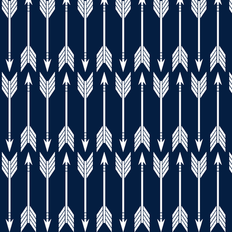 arrows // navy - railroad fabric by littlearrowdesign on Spoonflower - custom fabric