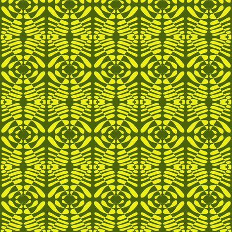 Tribal Signals Yellow Sage fabric by eve_catt_art on Spoonflower - custom fabric