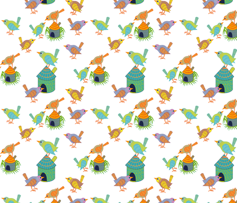 For the Birds fabric by katherine-appleby on Spoonflower - custom fabric