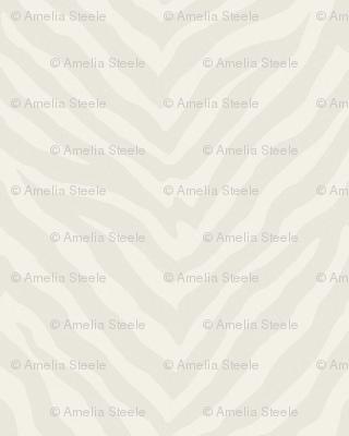 Large Scale Zebra in Cream and Warm Cashmere