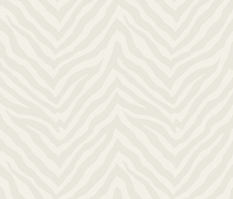 Large Scale Zebra in Cream and Warm Cashmere fabric by willowlanetextiles on Spoonflower - custom fabric