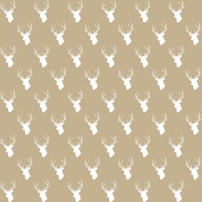 Tan Deer Silhouette