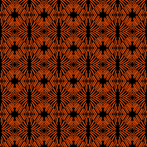 Weaving Orange Black fabric by eve_catt_art on Spoonflower - custom fabric