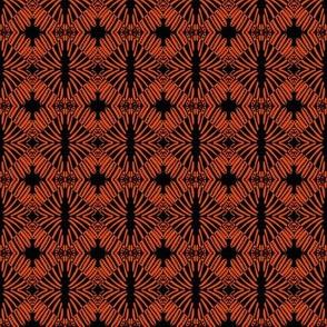 Weaving Orange Black