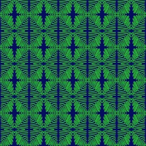 Tribal Crosses Green Blue
