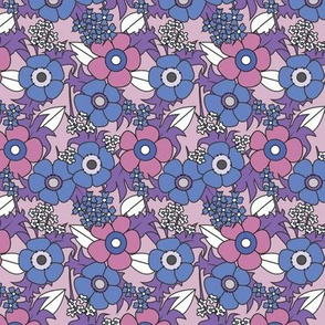 Anemones purple