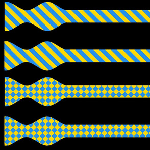School Colors Bow Ties Gold and Blue