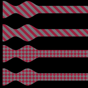School Colors Bow Ties Maroon and Grey