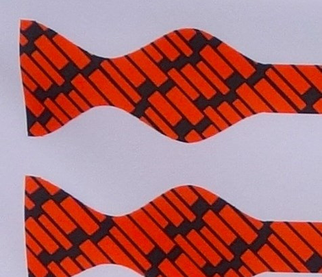 School Colors Bow Ties Orange and Black