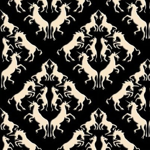 Unicorn Damask, Cream