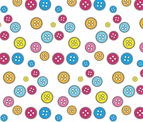 Buttons Fabric fabric by de-ann_black on Spoonflower - custom fabric