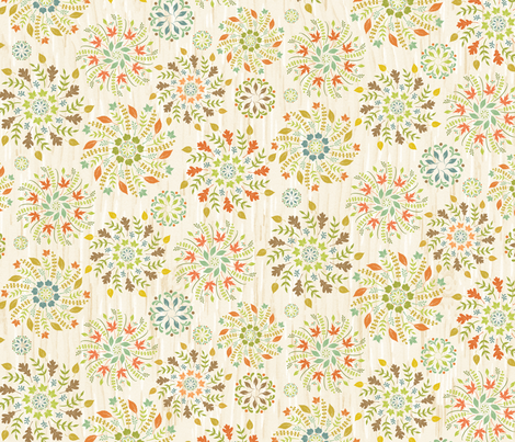 Whirling Leaves: Wood fabric by sheri_mcculley on Spoonflower - custom fabric