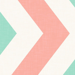 Railroaded Mint and Coral Chevron