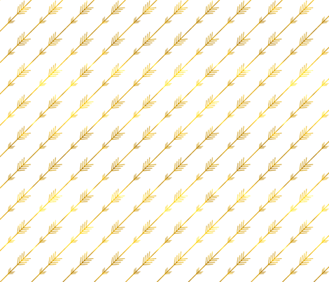Mini Gold Arrows fabric by willowlanetextiles on Spoonflower - custom fabric